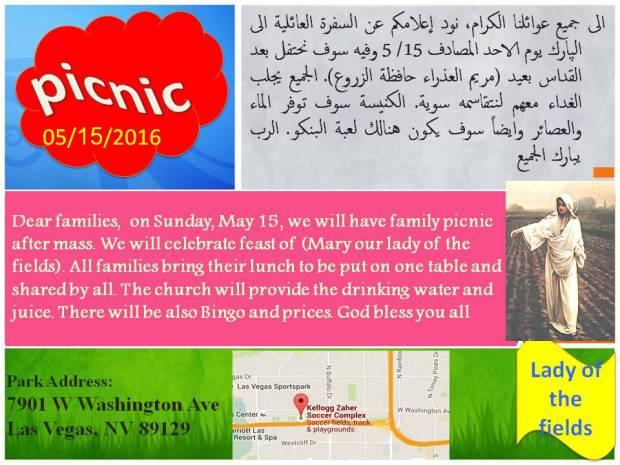 Picnic May 15