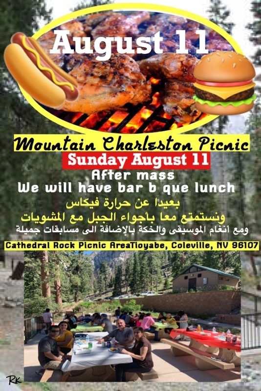 Church Picnic on August 11, 2019 to Mt  Charleston | St